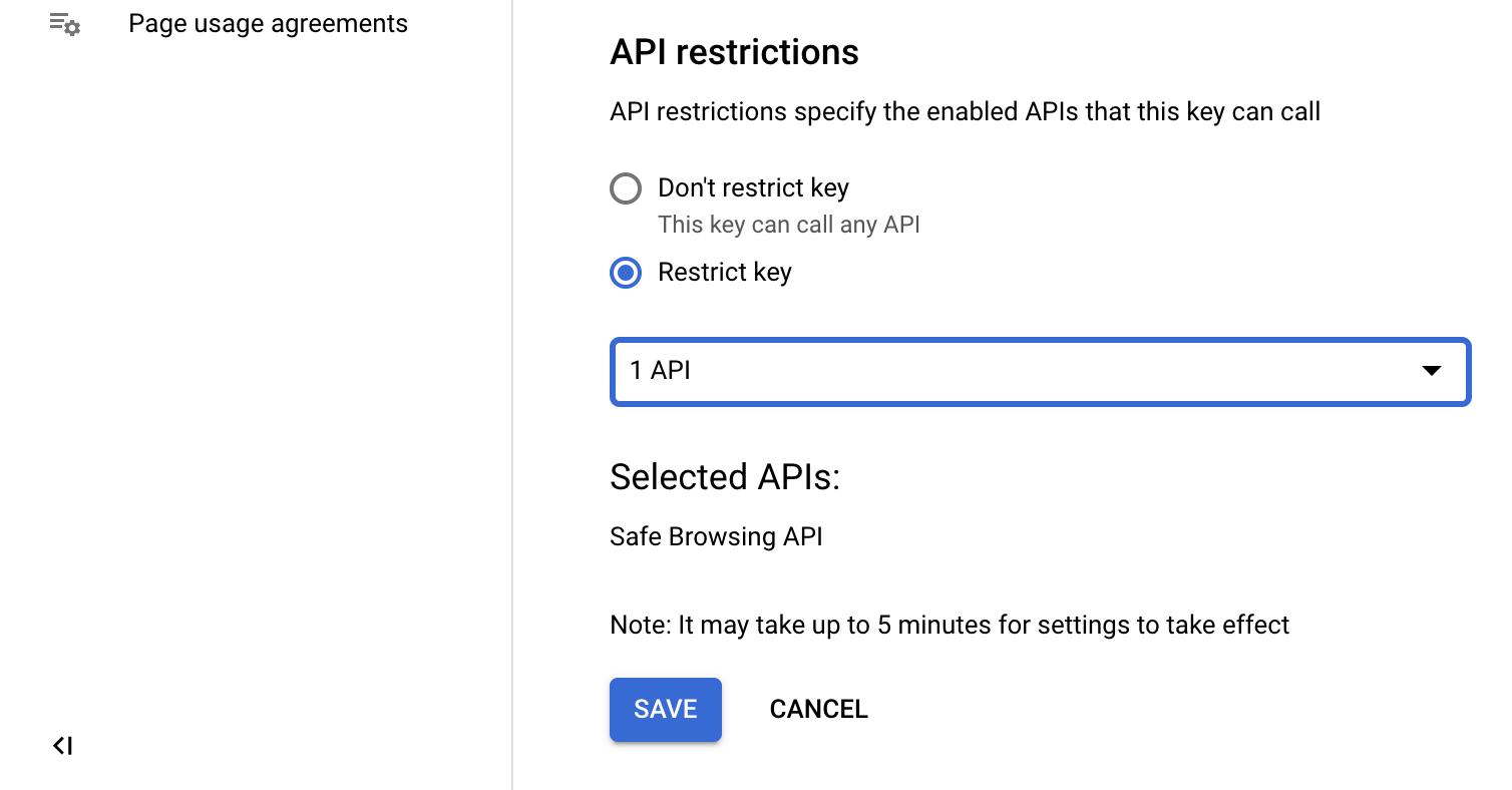 Check Google Api Key